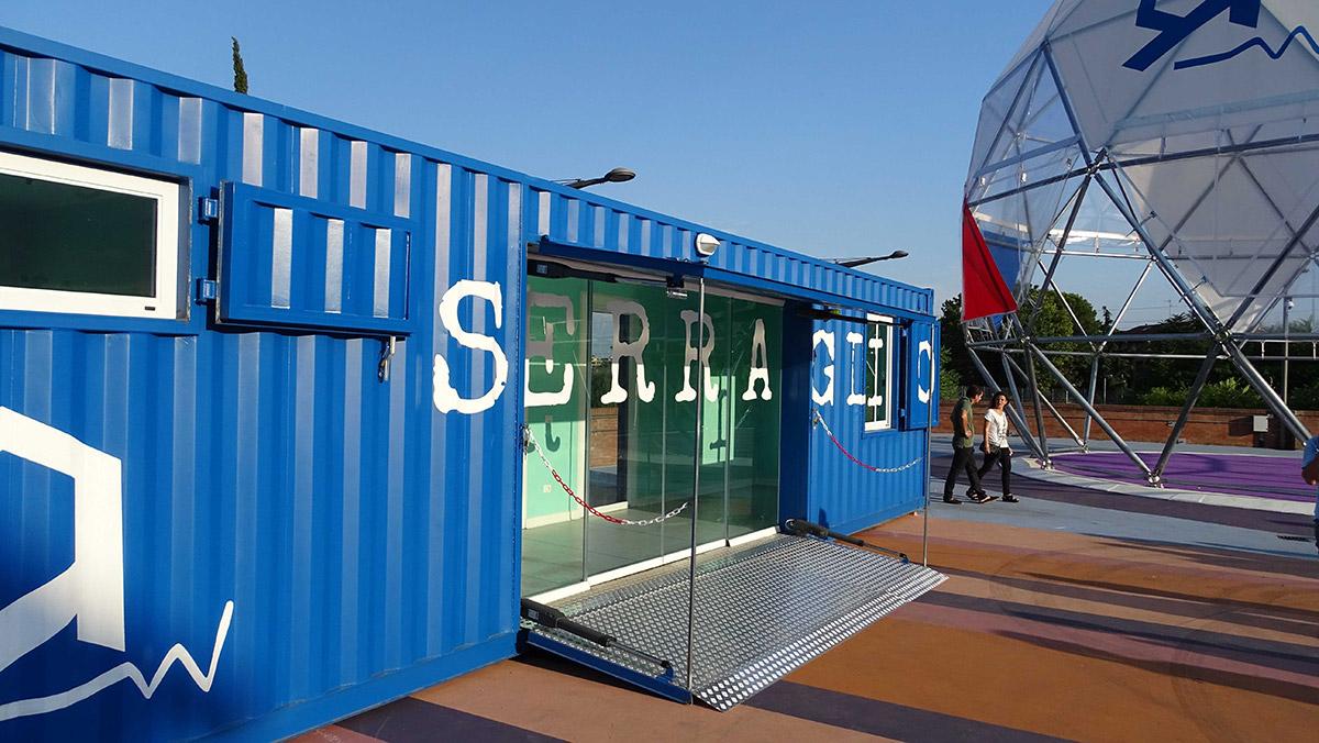 Container dell'area attrezzata del Serraglio