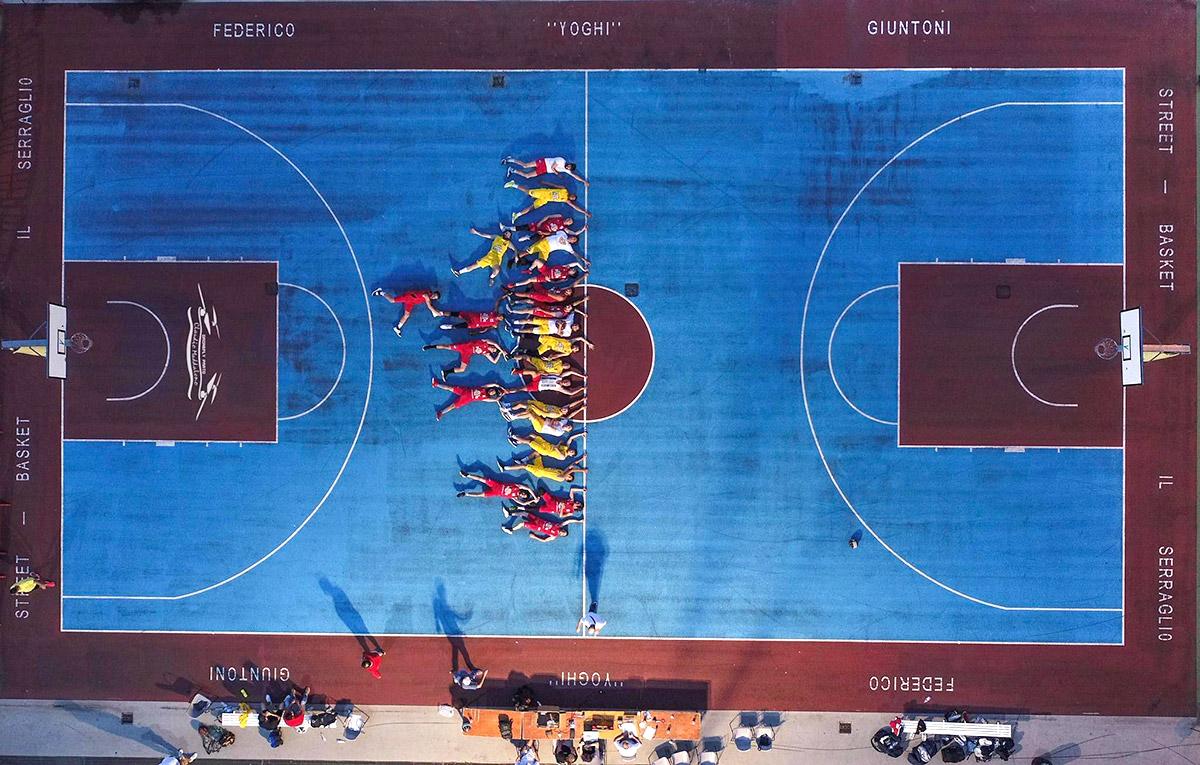 Il campo da basket nell'area del Serraglio