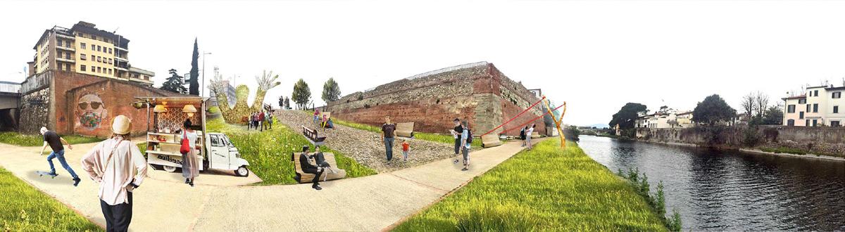 Rendering area Bastione delle Forche