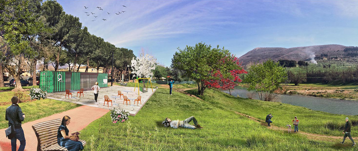 Rendering area Parco degli ulivi